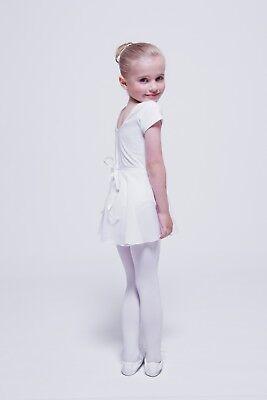 """tanzmuster Kinder Ballett Wickelrock """"Emma"""" weiß Ballettrock Röckchen Rock 2"""
