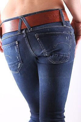 Nuovo G-Star Lynn Skinny Wmn Slim Fit Jeans Pantaloni Donna Relish Superstretch 3