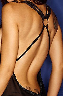 Negligee Dessous Minikleid schwarz neu Chemise Reizwäsche Clubwear Damenkleid 2
