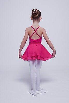 """tanzmuster Kinder Ballettrock """"Elli"""" aus Chiffon pink Ballett Rock Röckchen 3"""
