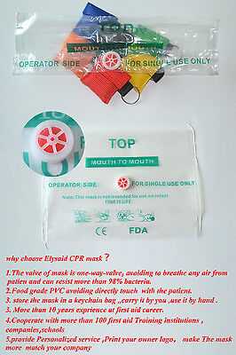 80 pcs First Aid CPR Face Shield Emergency CPR Mask Multiple Color  For Training 9