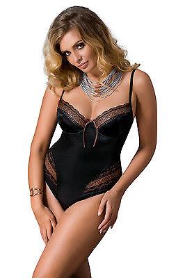 Passion Bodys Damen Dessous Mieder Übergrößen schwarz Damenbody Sexy Bodys neu 2