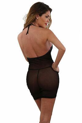 Mini Robe Top Sexy Courte Femme Tulle Transparente Zippée Spazm Clubwear S/M L/X 5