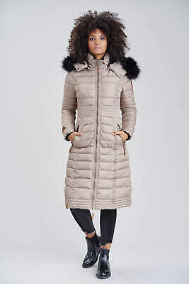 NAVAHOO DAMEN MANTEL Winter Steppmantel Parka Lang Warm