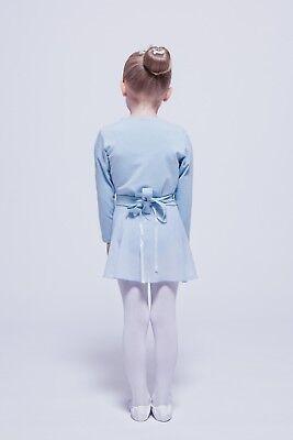 """tanzmuster Kinder Ballett Wickeljacke """"Mandy"""" hellblau, Ballettjacke Jacke 2"""