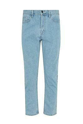 Mens Casual 100% Cotton Zip Fly Blue Pants Regular Fit Straight Leg Denim Jeans 3