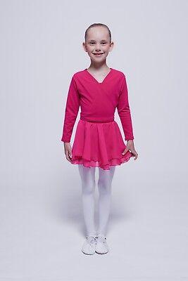 """tanzmuster Kinder Ballettrock """"Elli"""" aus Chiffon pink Ballett Rock Röckchen 2"""