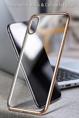 Coque iPhone X XS Max XR 2018 Transparente Gel Silicone Souple Cadre Brillante 6