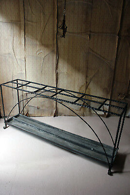 Antique Mid-19thC Very Large Country House Wrought Iron Stick Stand c.1870 12