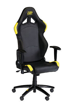 Seat In Black Synthetic Leather OMP TR-S Plus Racing Office Chair