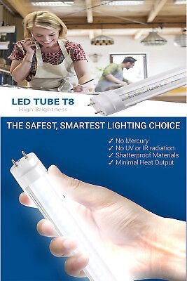 10-100 PACK LED G13 4FT 4 Foot T8 Tube Light Bulbs 18W 6000K CLEAR OR MILKY LENS 4