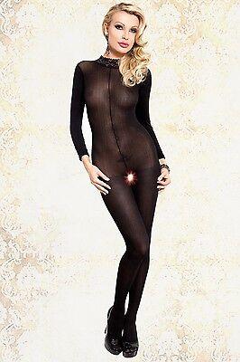 230049 Sexy Ouvert Catsuit Bodystocking Schwarz Offen Ganzkörperanzug Mandy HOT 2