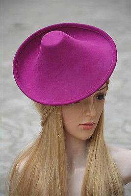 New Ladies Wool Felt Hat Millinery Supply Fascinator Base Royal Ascot A264 4