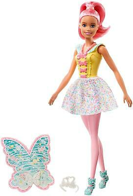 Barbie FXT03 Dreamtopia Fairy Doll - Pink Haired Doll with Yellow Dress 4