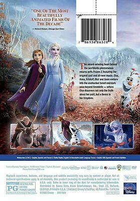 Frozen Ii 2 Dvd Movie New Sealed 2020 Disney Bilingual Kids Cartoon Olaf 2