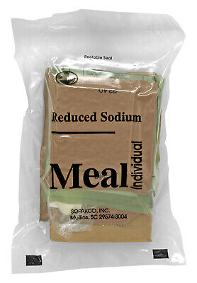 Sopakco Case of 12 MRE Meals Ready To Eat Emergency Food Rations - In Stock AL 8