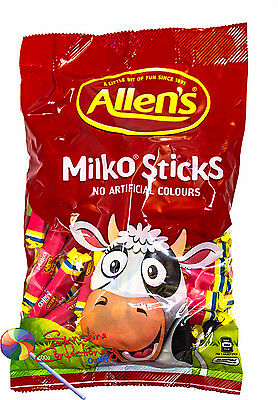 Allen's Milko Sticks - 64 Sticks (approx) - Allens Sweets Party Buffet Lollies 2