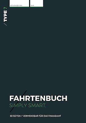 Type 7 Premium-Fahrtenbuch, DIN A5, 60 Seiten, für Finanzamt geeignet