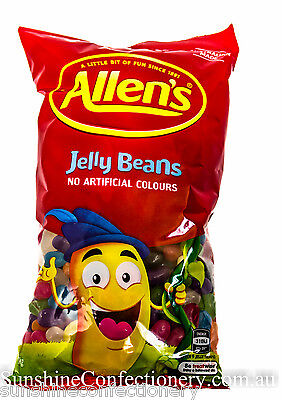 ALLEN'S JELLY BEANS - 2 x 1KG - Mixed Jelly Lollies, Kids Parties Allens Sweets 2