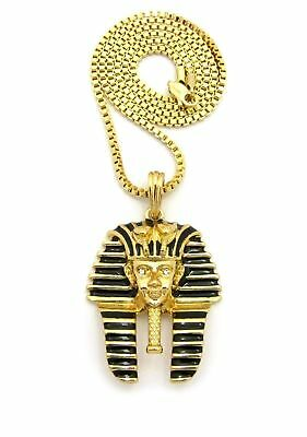 Ancient Egyptian Anubis & Ankh Cross (Key Of Life) Box Chain Necklace Set 5