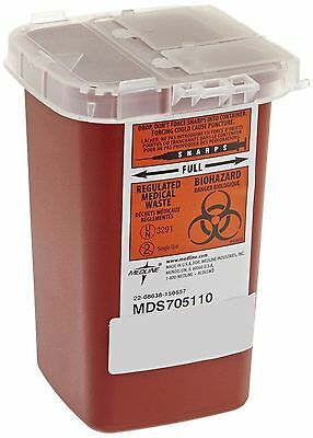 2 PACK-- Sharps Container Biohazard Needle Disposal 1 Qt Size Tattoo