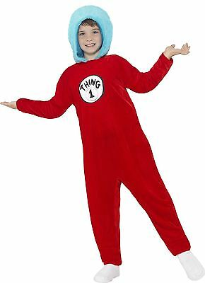 ed7c4456 ... Kids Thing 1 or 2 Costume Children Cat In The Hat Dr Seuss Fancy Dress  Book