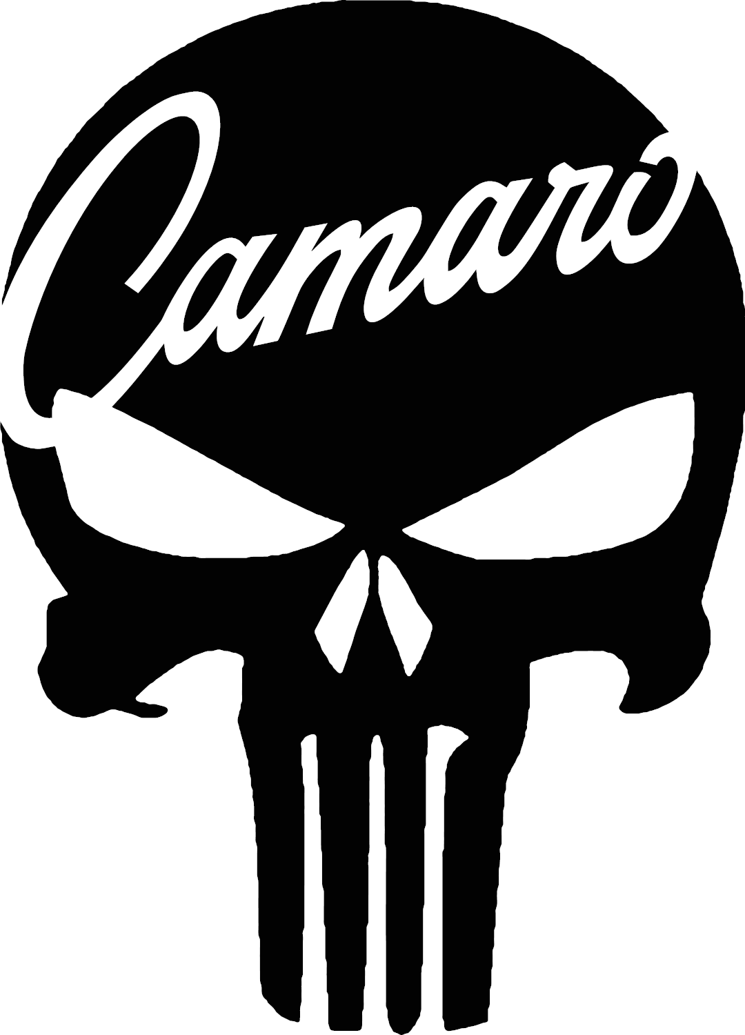 Chevrolet chevy camaro punisher skull vinyl decal 3 sizes 12 colors camaro ss 4 4 of 11