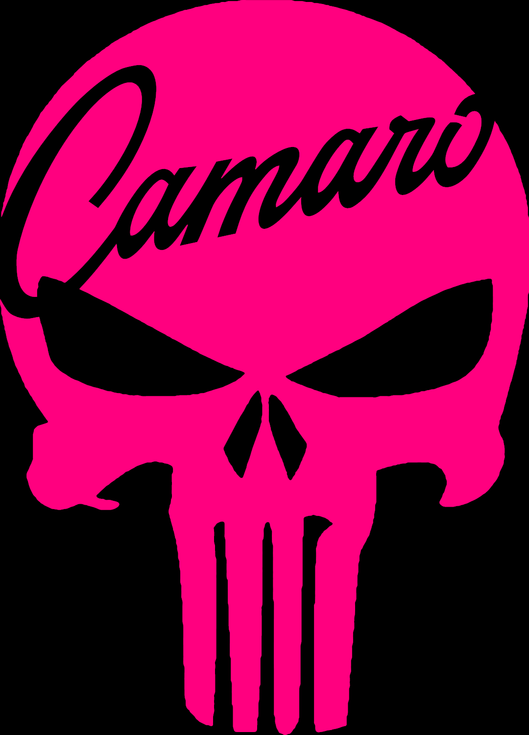 Chevrolet chevy camaro punisher skull vinyl decal 3 sizes 12 colors camaro ss 9 9 of 11