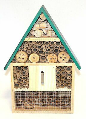 Insect Wooden Hotel Nest Home Bee Keeping Bug Ladybird Garden Pollination Box 2