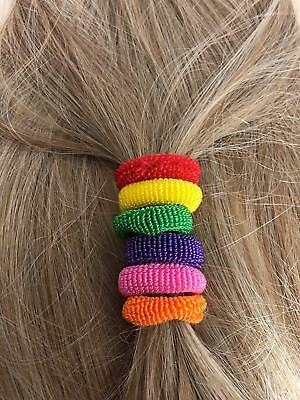 2 Imitation Hair Scrunchie Bands Ponytail Elastics Bobbles Ponio Set