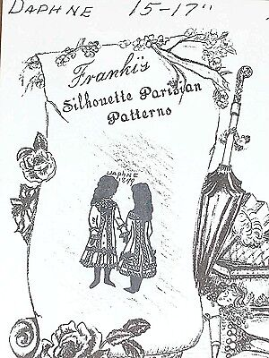 "Vintage Orig Franki/'s Antique Bebe Doll Parisian Skirt Pattern Ethel From 9/""-25/"""