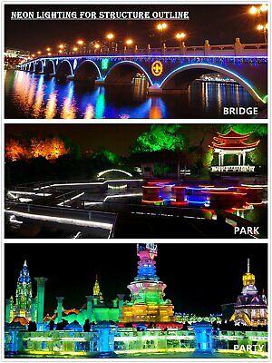 1m-100m 5050 RGB Neon LED Strip Streifen 2835 Wasserdicht Band Lichtleiste 230V