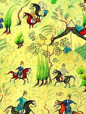 Antique Persian Handmade Miniature Painting Islamic Artwork Battle War Scene 2