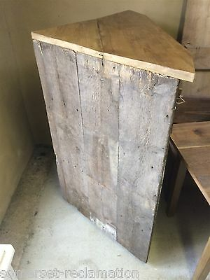 Reclaimed Old Rustic Pine Corner Cupboard 4ft 10