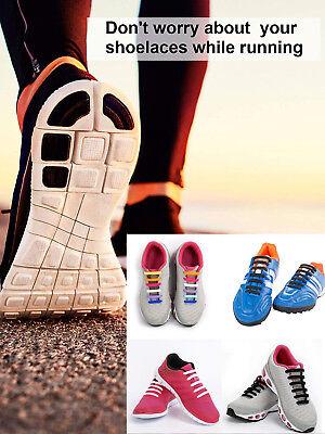 Elastische Schnürsenkel Silikon Gummi Schuhbänder No Tie Laufschuhe Sport Schuhe 11