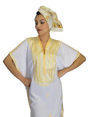 Kaftan Moroccan Women Arabian Beach Summer Caftan Long Dress Muslim Abaya Cotton