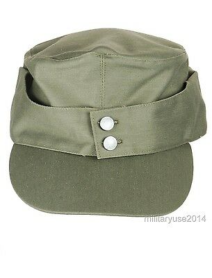 157ea48f14f ... WWII German Army EM Summer Panzer m43 Field Cotton Cap Green Size XL 4