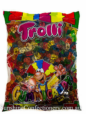 GUMMI BEAR LOLLIES  - 2KG - TROLLI  (gummy bears) Post Included
