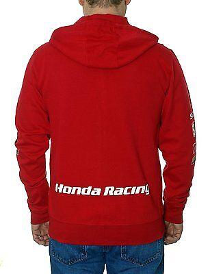 bcb865b079b ... Honda Zip Hoodie Honda Racing Red Jacket Sweatshirt Screen Printed Logos