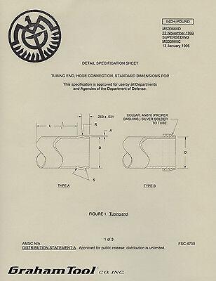 Aircraft Tube Beading Tool Parker Appliance Company #4 Inner Roller Heavy Duty