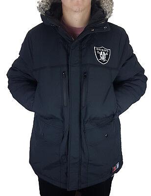 check out b234e 29147 MAJESTIC NFL FOOTBALL Oakland Raiders Winter Parka Mantel Steppjacke  Winterjacke