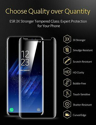Samsung Galaxy S9 S8 S10 Plus Case Friendly Real Tempered Glass Screen Protector 4
