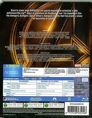 MARVEL COLECCIÓN STEELBOOK 4 BOX 12 FILM (12 BLU RAY) Seleccione La Tuo BOX 3