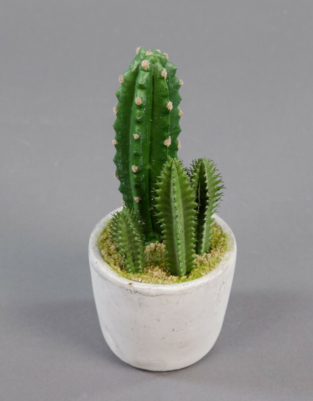 Kaktus im Dekotopf auf Holzfuß Kunstpflanzen künstlicher Kaktus Kakteen ca.15 cm