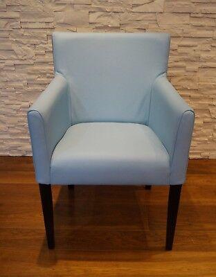 Blau Echtleder Esszimmerstuhle Mit Armlehnen Stuhl Sessel Esszimmer