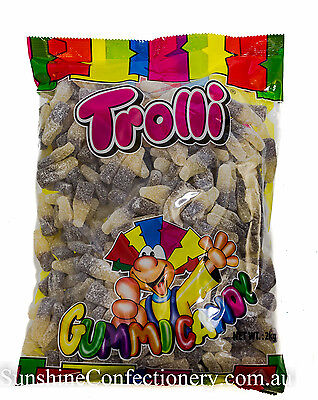 SOUR COLA BOTTLE LOLLIES  -  2KG  -  TROLLI - Lolly Buffet, Parties 4