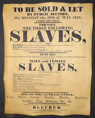 Slave Auction Posters, Set of 3, repros, sale, hire, slavery, civil war, wanted 2