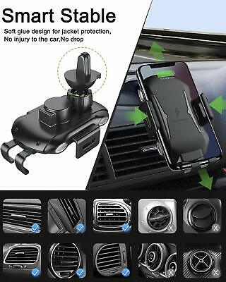 Automatic Clamping Qi Wireless Car Charging Charger Mount Air Vent Phone Holder 7