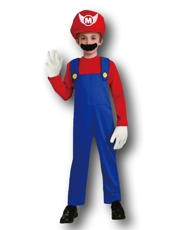 Adulte Hommes Mario Bros Luigi Déguisement Costume Plombiers Mat Cerf Fête