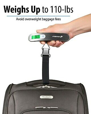 Portable Travel 110lb / 50kg LCD Digital Hanging Luggage Scale Electronic Weight 4